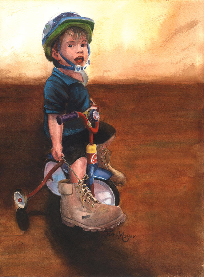 Momas Shoes Painting by Terri  Meyer