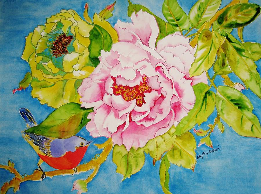 Peonies Painting - Moment Of Beauty by Krysia Gallien