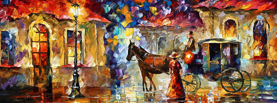 Afremov Painting - Momentary Stop by Leonid Afremov