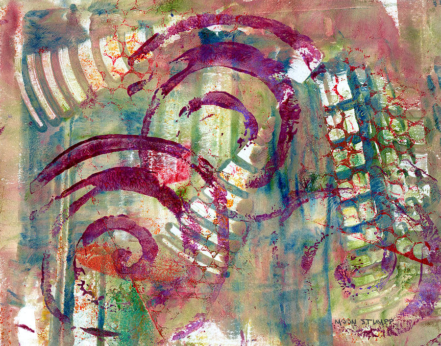 Abstract Painting - Moments by Moon Stumpp