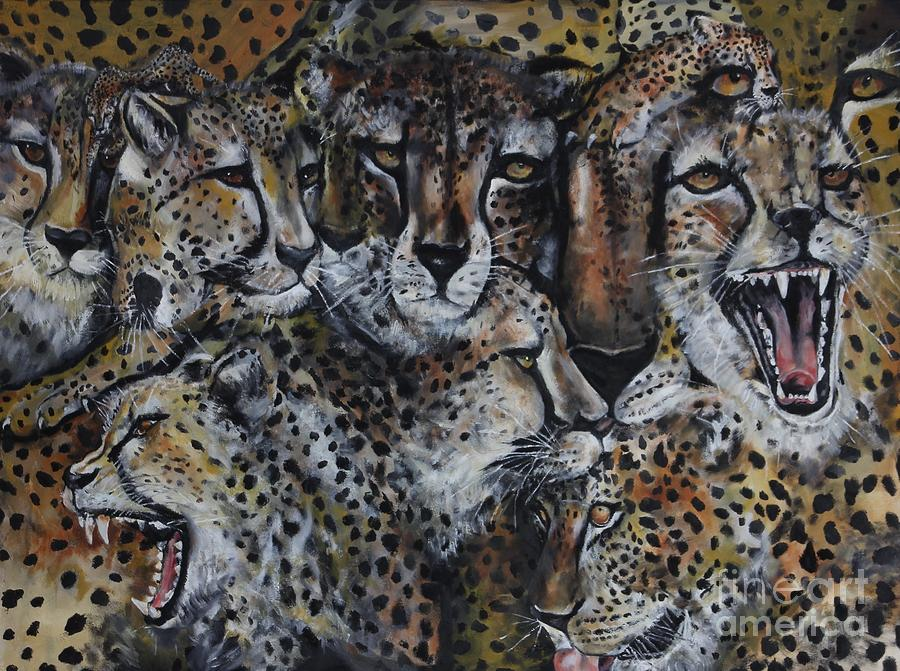 Wildcats Painting - Momentum by Laneea Tolley