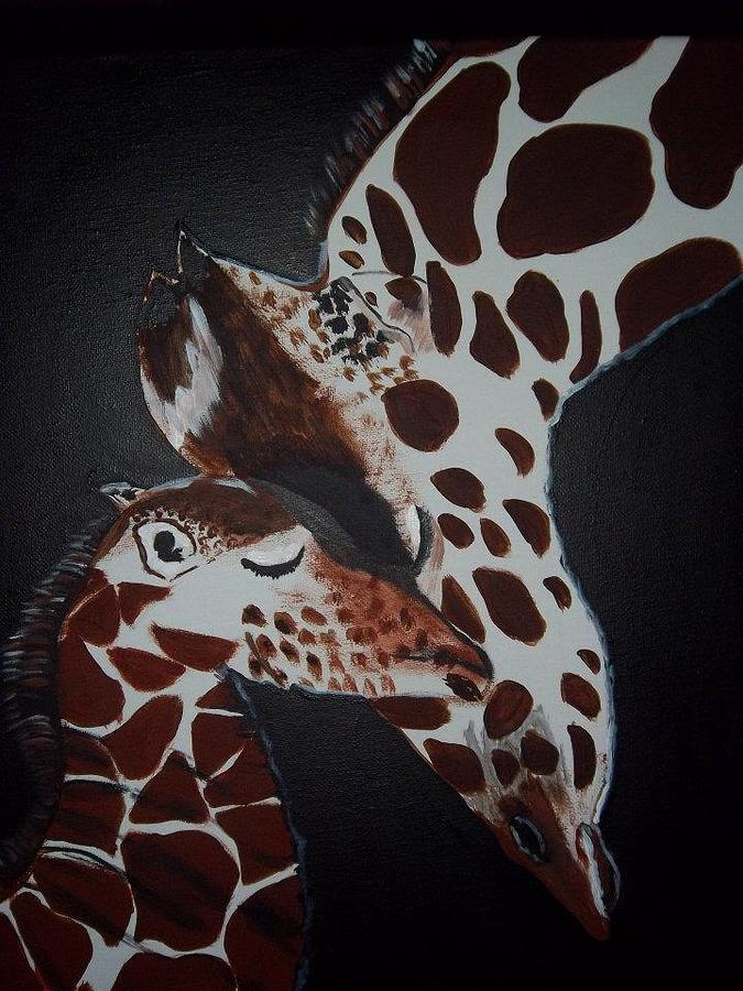 Animals Painting - Momma And Baby by Donna Bird