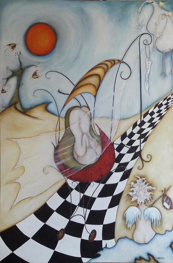 Moon Painting - Momo-07 by Belen Jauregui