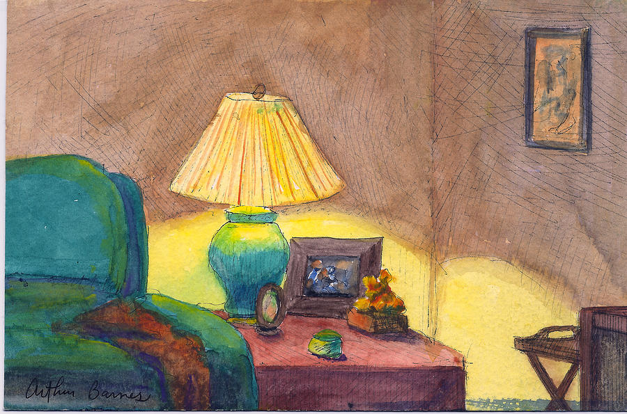 Interior Painting - Moms Lamp by Arthur Barnes