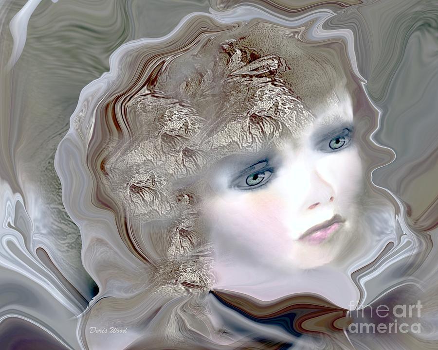 Portrait Digital Art - Mona by Doris Wood