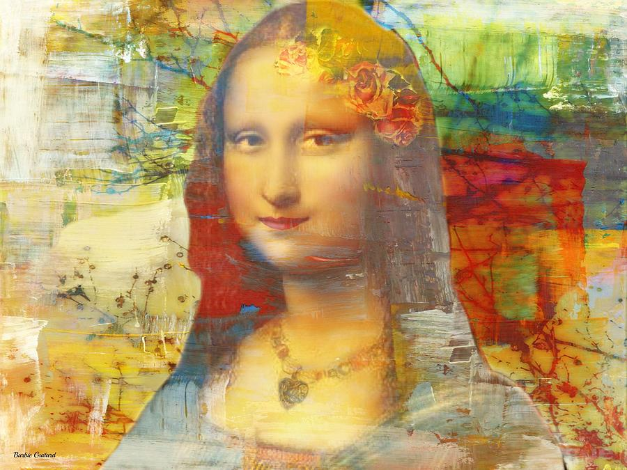 Mona Lisa Painting - Mona Lisa Abstract by Barbie Guitard