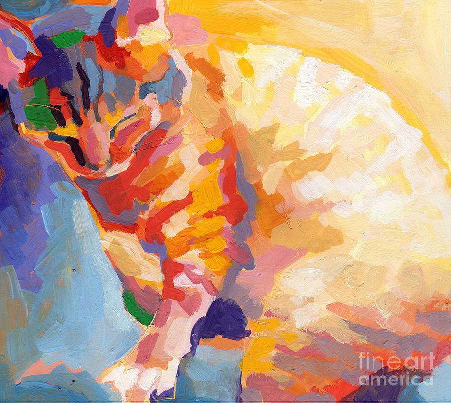 Mona Lisa Painting - Mona Lisas Rainbow by Kimberly Santini