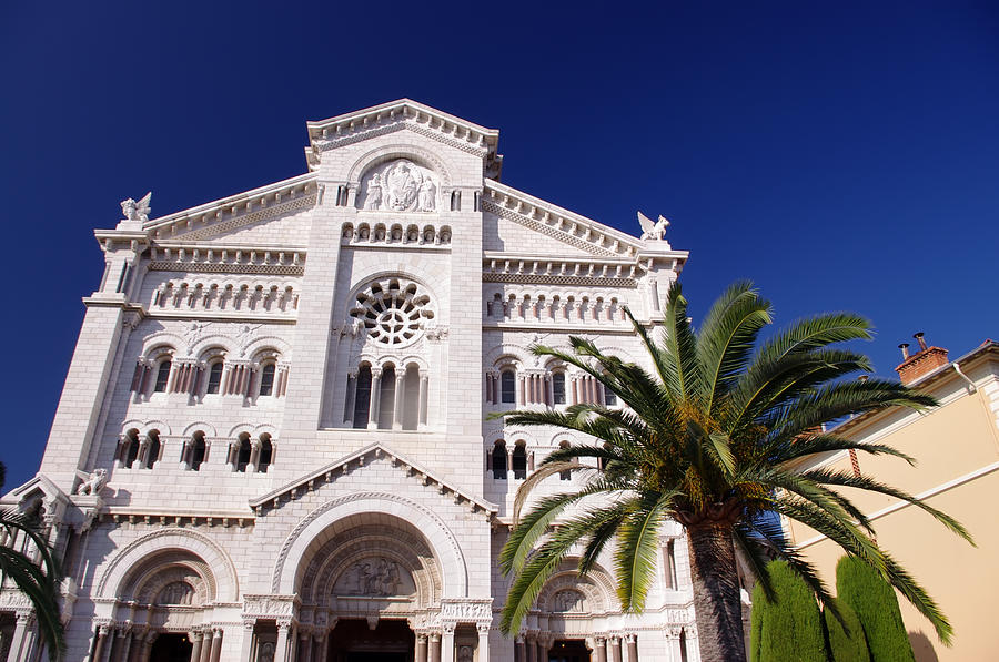 Ancient Photograph - Monaco Cathedral by Ioan Panaite