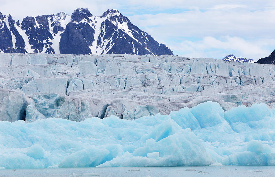 Monaco Glacial Ice In Spitsbergen Photograph by Anna Henly