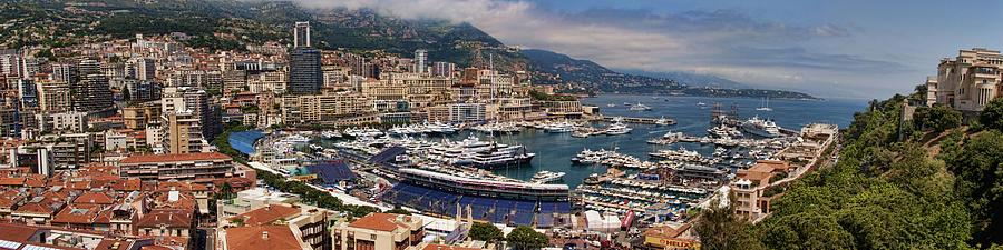 Panoramic Photograph - Monaco Panorama by David Smith
