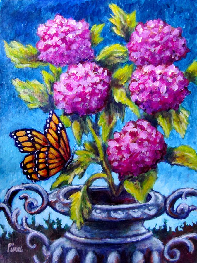 Flowers Painting - Monarch And Flowers by Sebastian Pierre