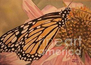 Monarch Painting - Monarch by Anne Woods