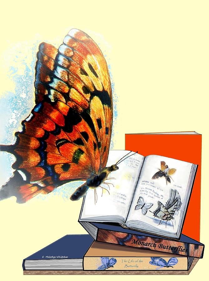 Books Digital Art - Monarch Books by Melodye Whitaker