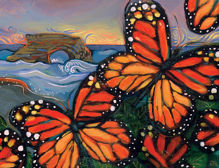 Monarch Butterflies At Natural Bridges Painting