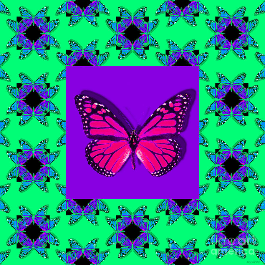 Butterfly Photograph - Monarch Butterfly Abstract Window 20130203p148 by Wingsdomain Art and Photography