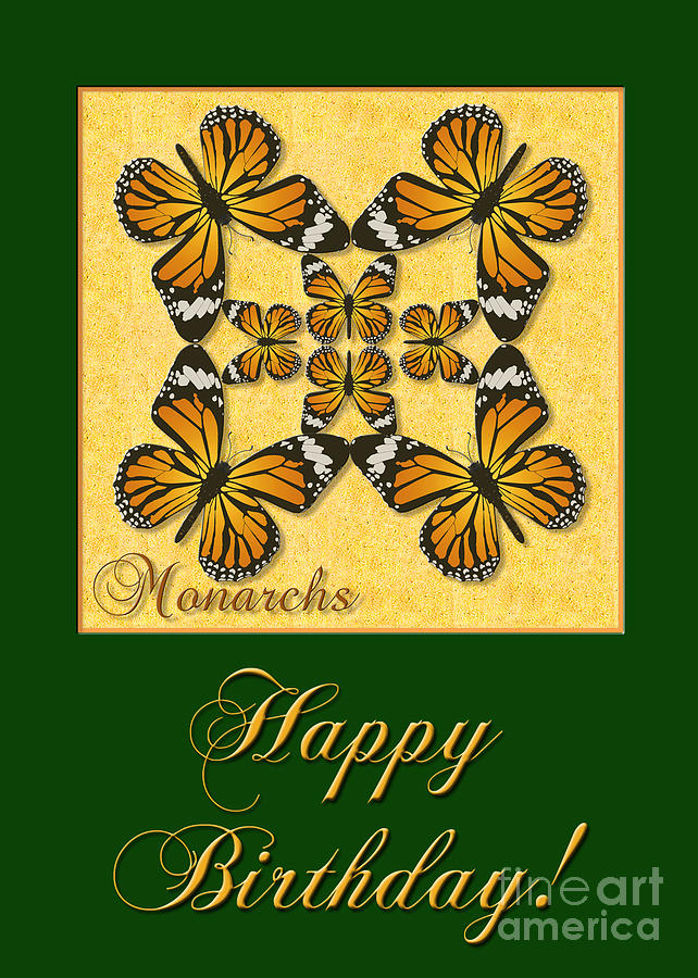 Monarch Butterfly Birthday Card Photograph by Melissa A Benson – Butterfly Birthday Card