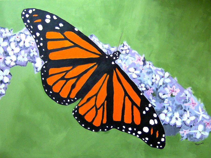 Monarch Butterfly Painting by Dan Twyman