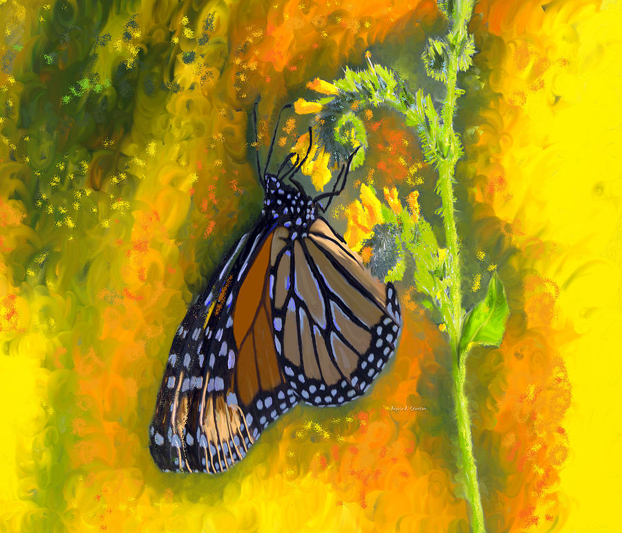 Monarch Butterfly Migration Painting