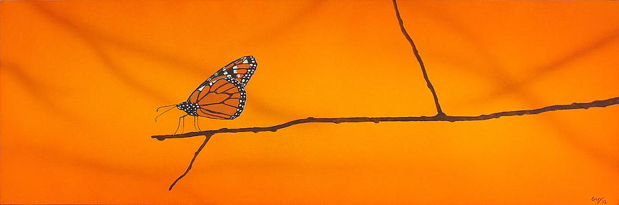 Monarch Painting by Guy Pettingell