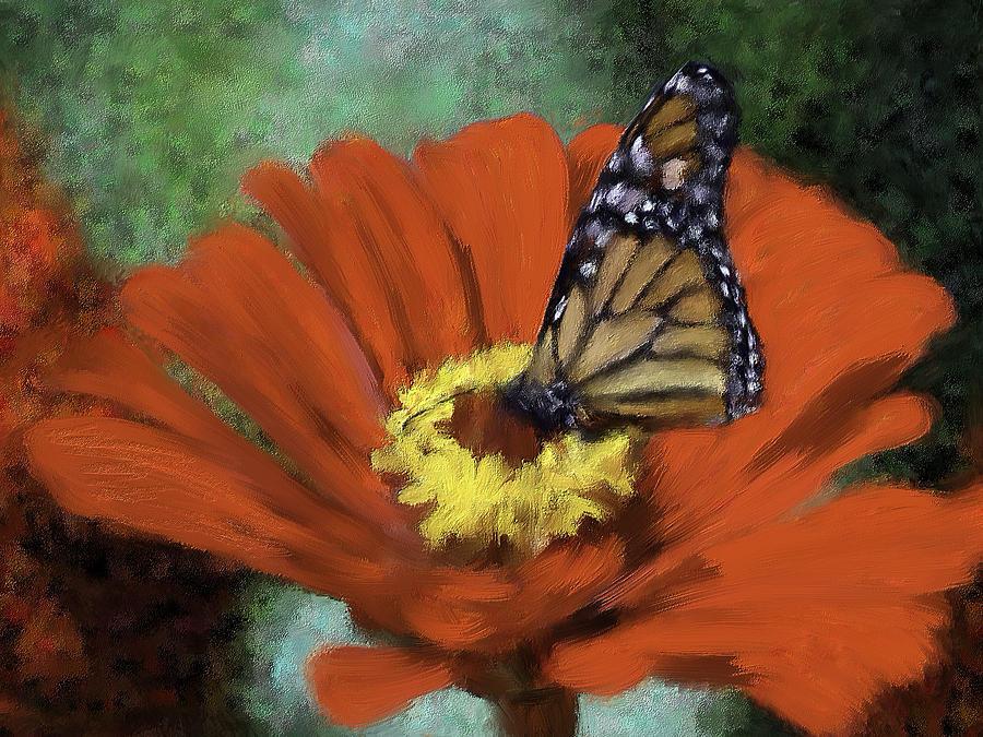 Monarch Mixed Media - Monarch Landing by Renee Skiba