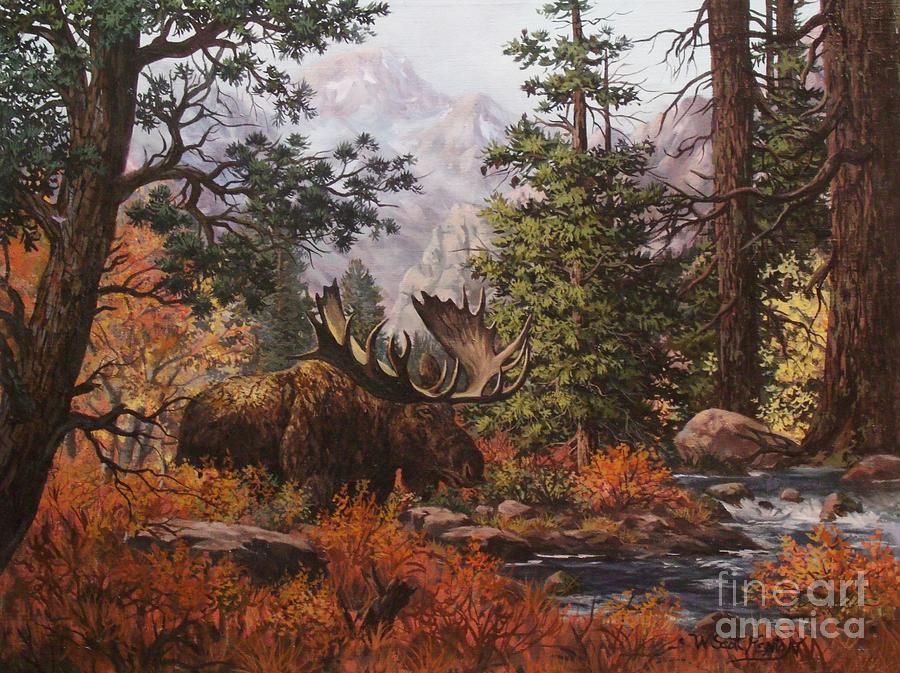 Wildlife Painting - Monarch by W  Scott Fenton