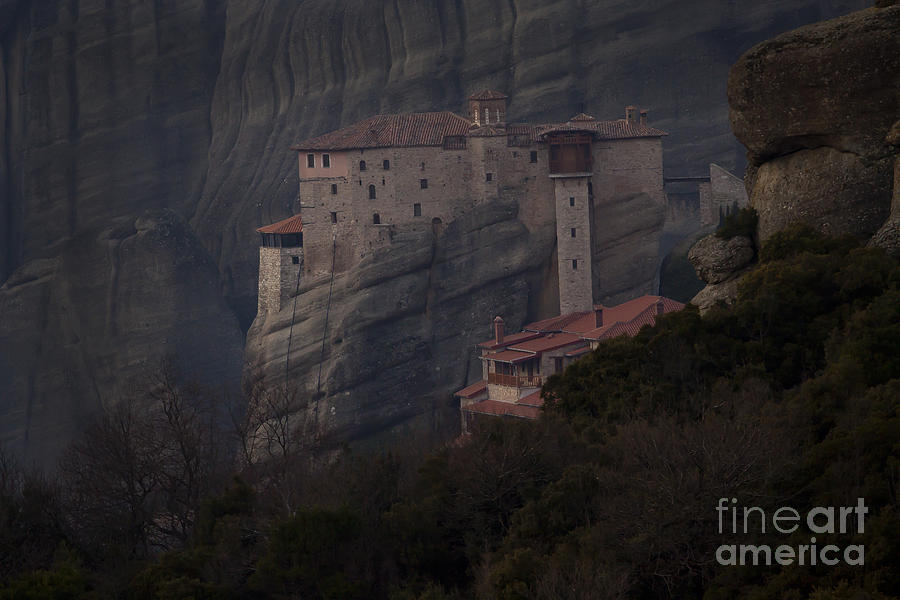 Monastary Photograph - Monastary At Meteora  Greece   #9635 by J L Woody Wooden