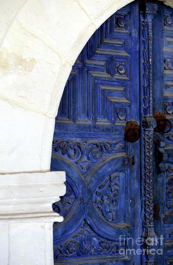 Blue Door Photograph - Monastery Door by John Rizzuto