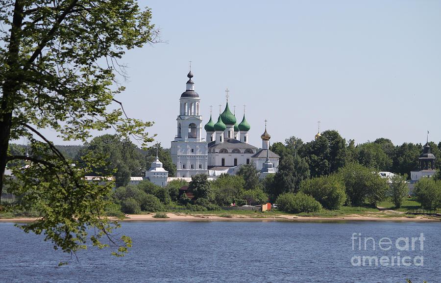 Aged Photograph - Monastery In Yaroslavl by Evgeny Pisarev