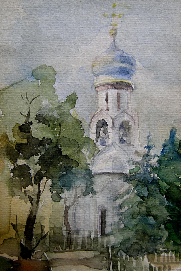 Russia Painting - Monastery by Khromykh Natalia