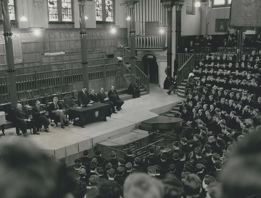Retro Photograph - Monday Assembly In The Speech Room At Harrow School by Retro Images Archive