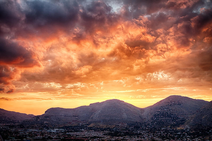 Mondello Photograph - Mondello Sunset by Viacheslav Savitskiy