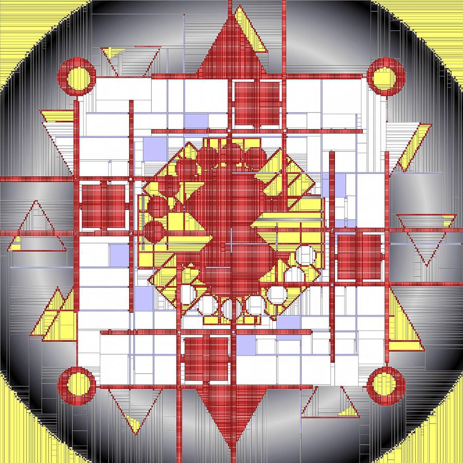 Mandala Maker Digital Art - Mondrian Plaid Fx by Mario Carini