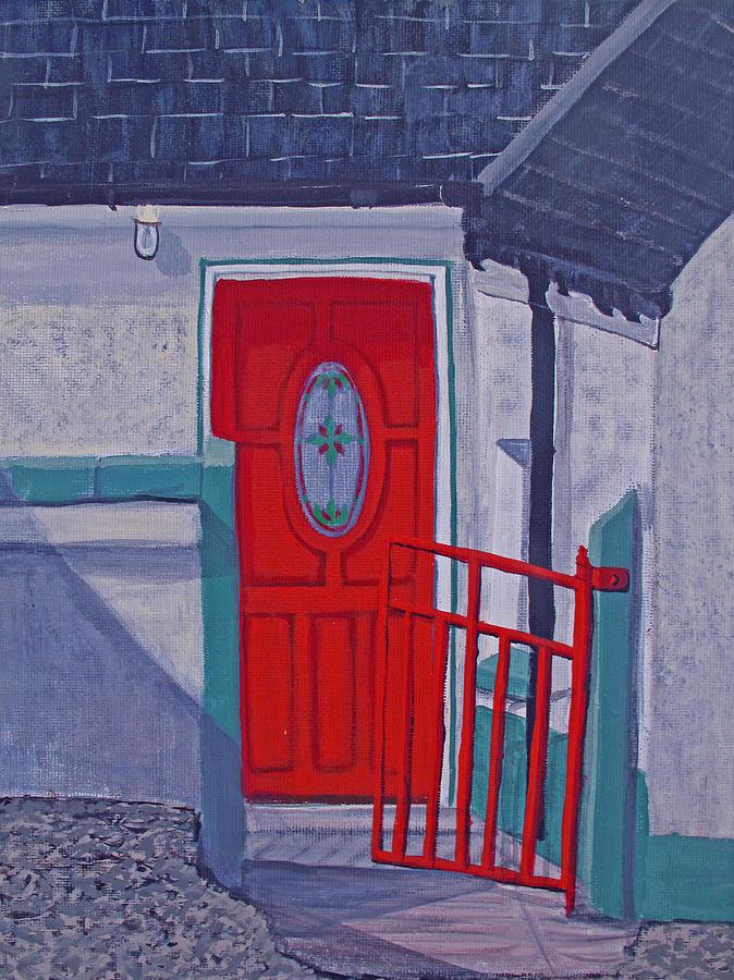Ireland Painting - Monedarragh Back Door And Gate by Barbara McDevitt