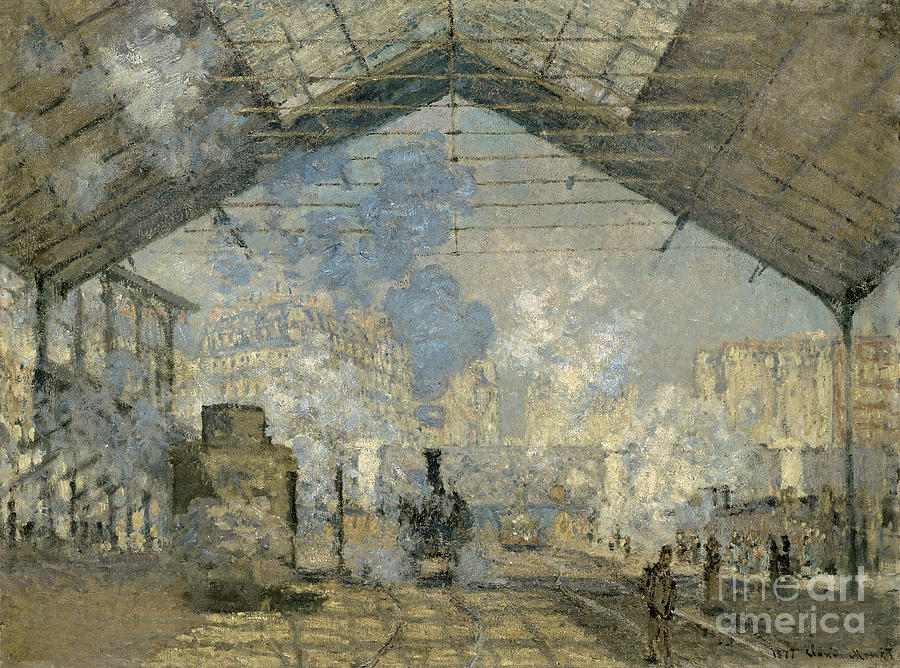 1877 Painting - Monet Gare St Lazare 1877 by Granger