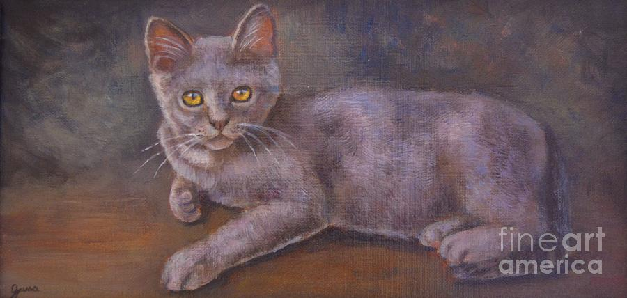 Cat Painting - Monet by Jana Baker