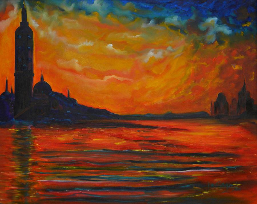 Impressionist Painting - Monet Landscape Study by Ken Caffey