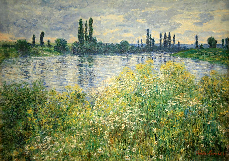 Vetheuil Photograph - Monets Banks Of The Seine At Vetheuil by Cora Wandel