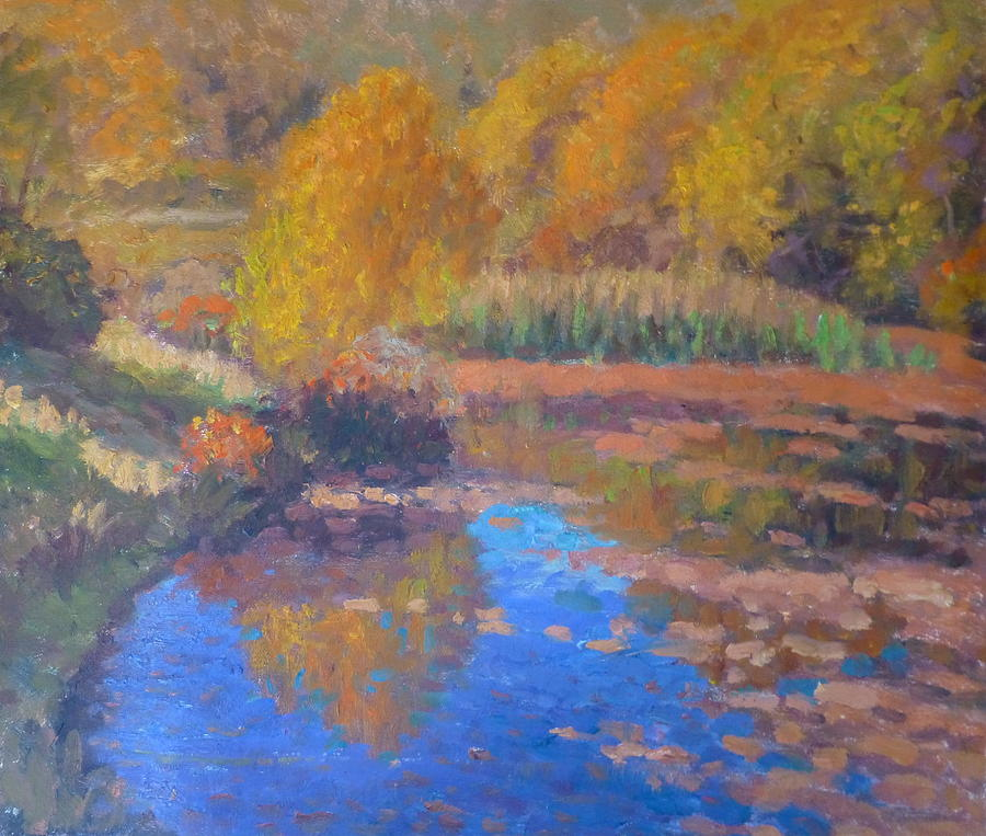 Pond Painting - Monets Pond. Whitechapple by Terry Perham