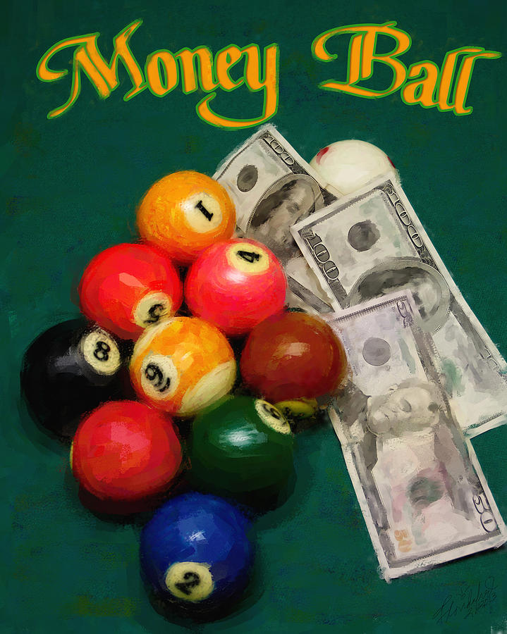 Billiards Painting - Money Ball by Frederick Kenney