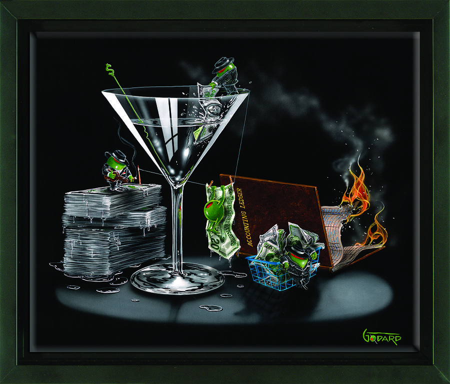 Olives Painting - Money Laundering by Michael Godard