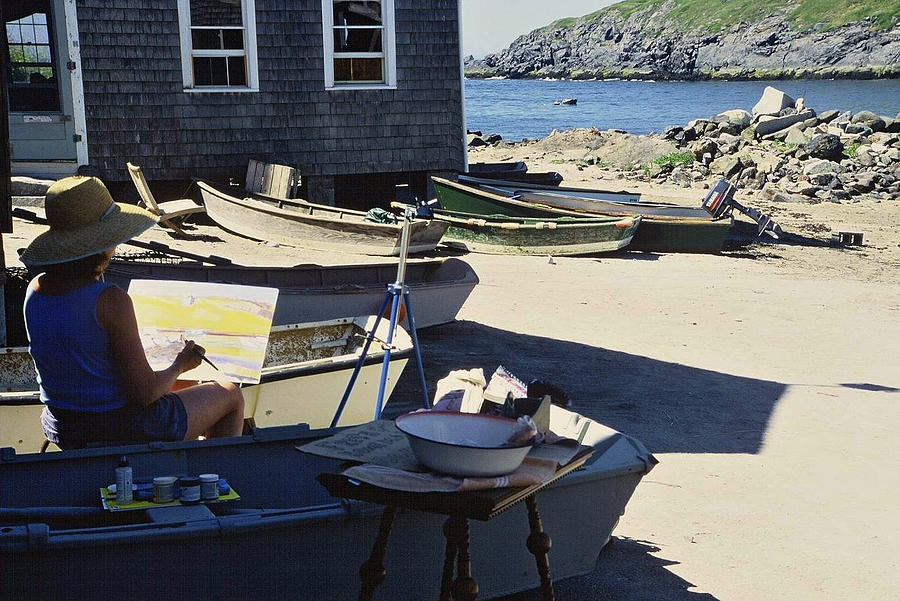 Monhegan Artist at Work by AnnaJanessa PhotoArt
