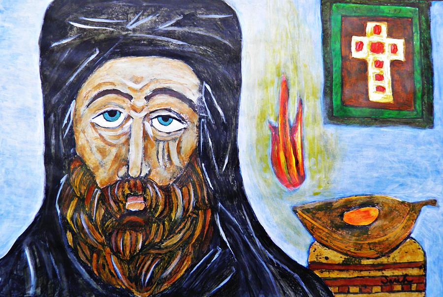 Sarah Loft Painting - Monk 2 by Sarah Loft