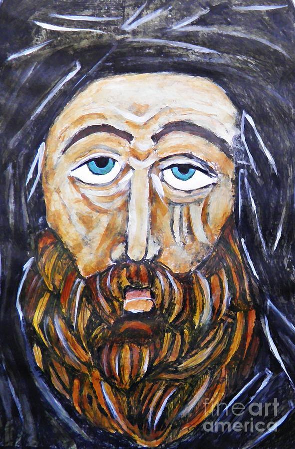 Sarah Loft Painting - Monk 4 by Sarah Loft