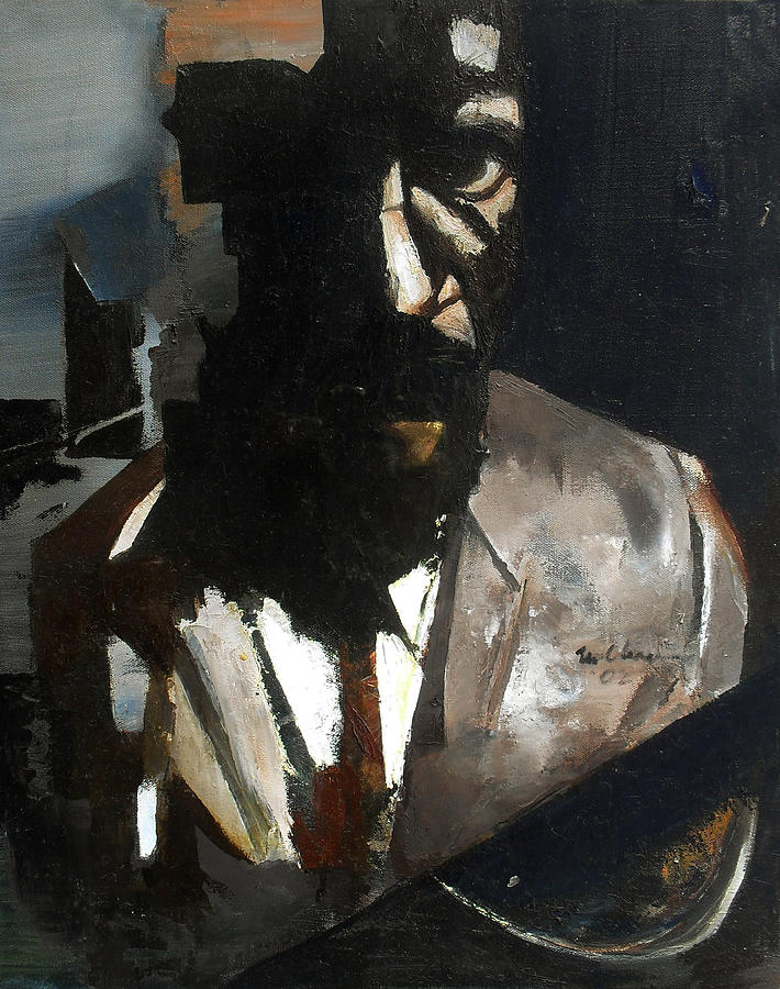 Monk Painting by Martel Chapman