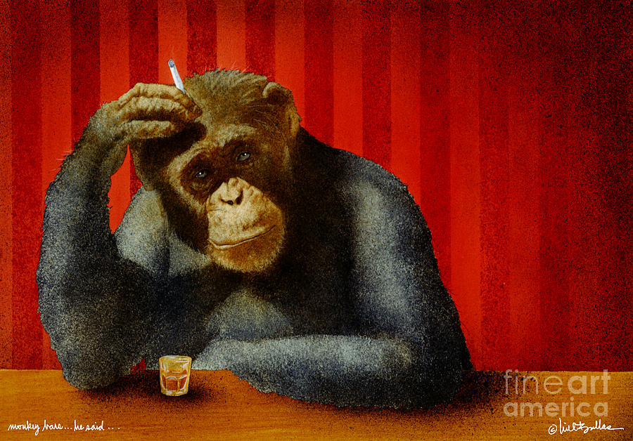 Will Bullas Painting - Monkey Bars...he Said... by Will Bullas
