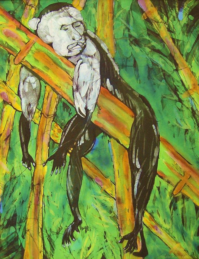 Monkey Tapestry - Textile - Monkey Nap by Kay Shaffer