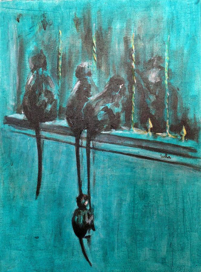 Monkey Swing Painting - Monkey Swing by Usha Shantharam