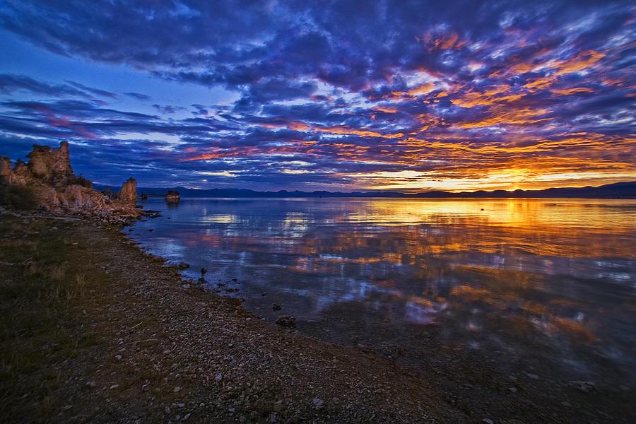 Sunrise Photograph - Mono Lake Sunrise by Priscilla Burgers