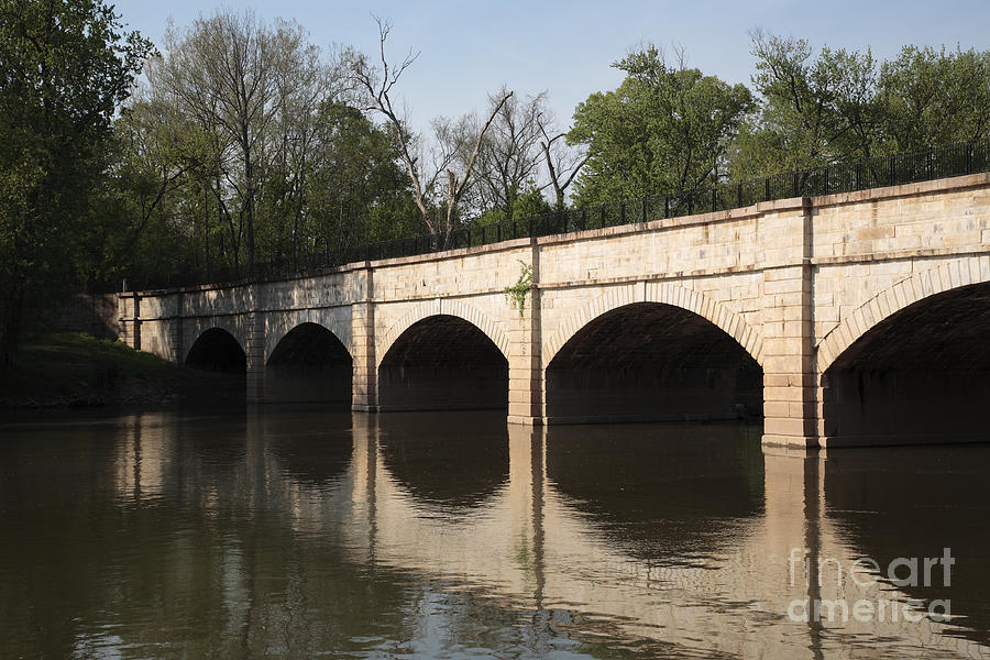 Aqueduct Photograph - Monocacy Aqueduct On The C And O Canal In Maryland by William Kuta