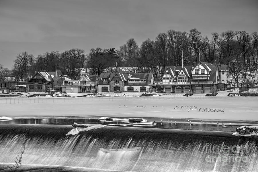 Ben Photograph - Monochrome Boathouse Row by Mark Ayzenberg